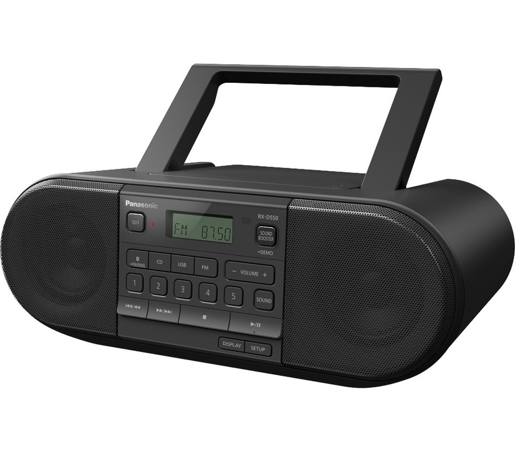 RX D550E-K PŘENOSNÉ RÁDIO S CD PANASONIC