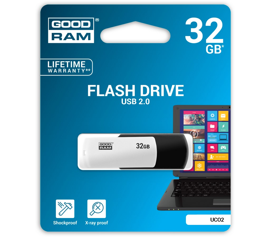 USB FD 32GB UCO black & white GOODRAM