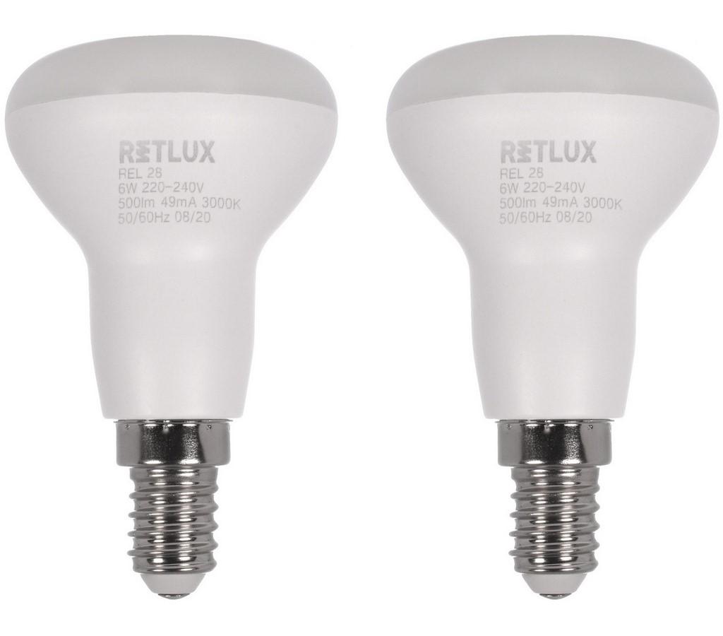 REL 28 LED R50 2x6W E14 WW RETLUX