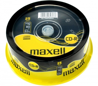 CD-R 700MB 52x 25SP 628522 MAXELL